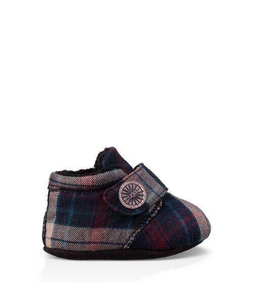 UGG Bixbee Plaid Infants Boots Black Plaid Extra Small (0-6 months)