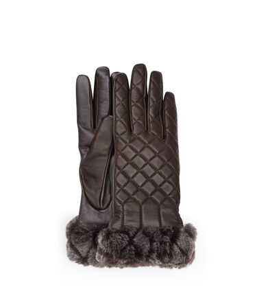 Quilted Croft Leather Smart Glove