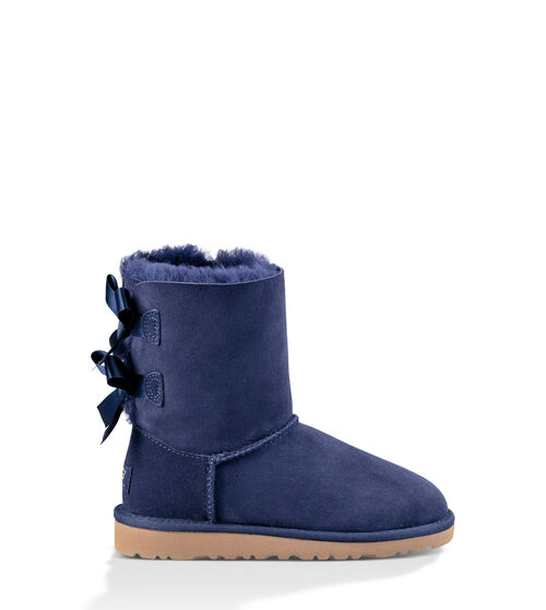 UGG Bailey Bow Kids Classic Boots Solid Peacoat 8