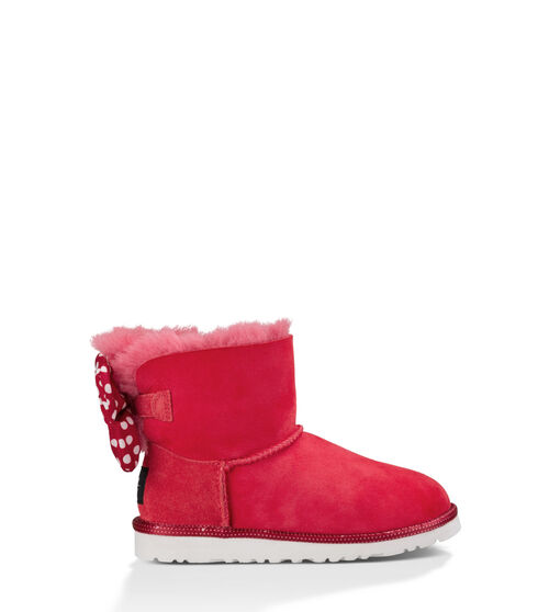UGG Sweetie Bow Kids Classic Boots Red 5