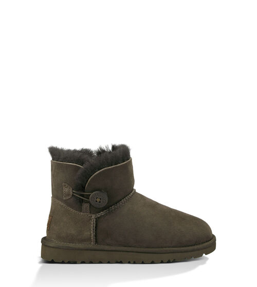 UGG K Mini Bailey Button Kids Boots Chocolate 5