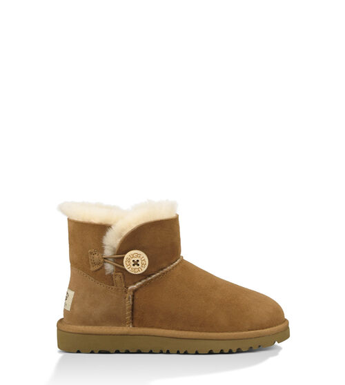 UGG Mini Bailey Button Toddler Boots Chestnut 10