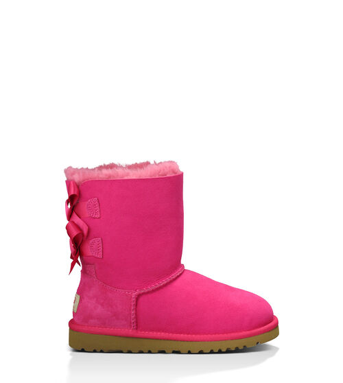 UGG Bailey Bow Kids Classic Boots Cerise 4