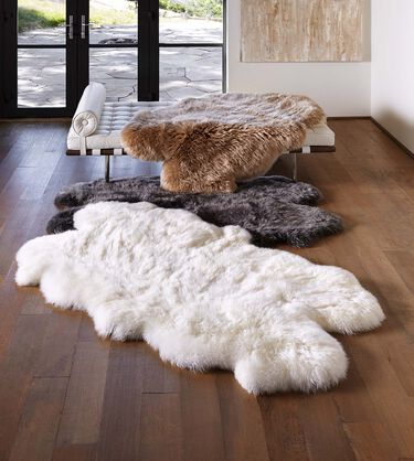 Sheepskin Area Rug-Quarto 4x6 Feet