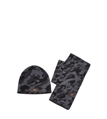 Boys' Camo Beanie and Scarf Boxed Set
