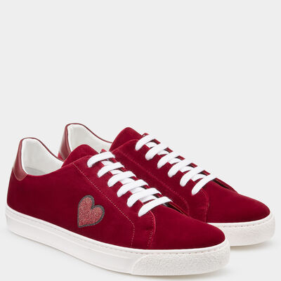 Glitter Heart Sneakers by Anya Hindmarch
