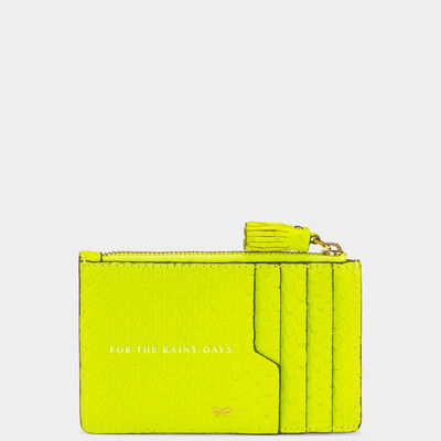 Python Smiley Zipped Card Case by Anya Hindmarch