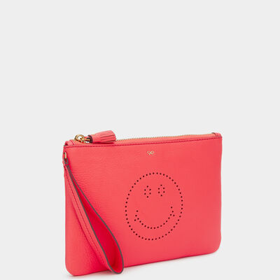 Smiley Zip-Top Pouch by Anya Hindmarch
