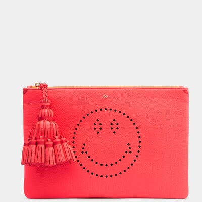 Smiley Georgiana clutch in {variationvalue} from Anya Hindmarch