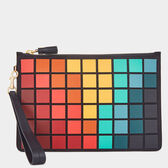 Giant Pixels Zip Top Pouch by Anya Hindmarch