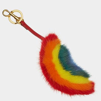 Rainbow Mink Tassel by Anya Hindmarch