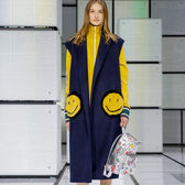 Smiley Oversized Gilet in {variationvalue} from Anya Hindmarch