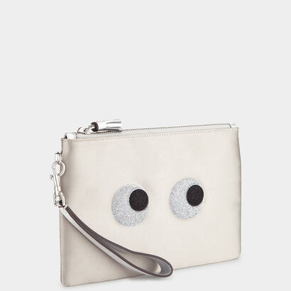Glitter Eyes Zip-Top Pouch by Anya Hindmarch