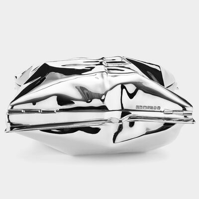 18ct White Gold Crisp Packet Clutch by Anya Hindmarch