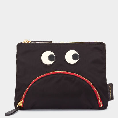 Gloomy Eyes Pouch by Anya Hindmarch