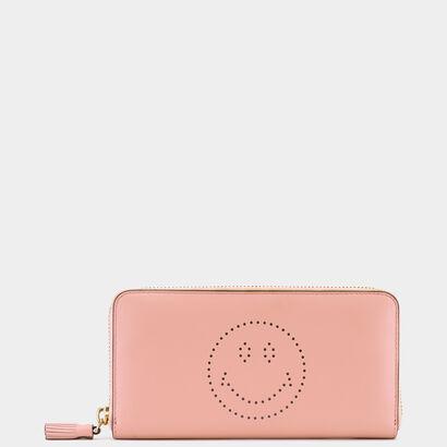 Smiley Large Zip-Around Wallet