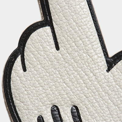 Mickey Pointing Leather Sticker by Anya Hindmarch