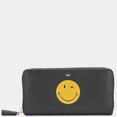 Wink Large Zip-Around Wallet