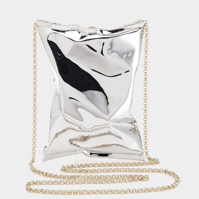 18ct White Gold Crisp Packet Clutch in {variationvalue} from Anya Hindmarch