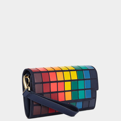 Giant Pixels Continental Wallet by Anya Hindmarch