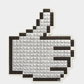 Oversized Pixel Thumbs Up Sticker