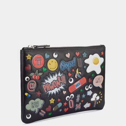 All Over Stickers Pouch by Anya Hindmarch