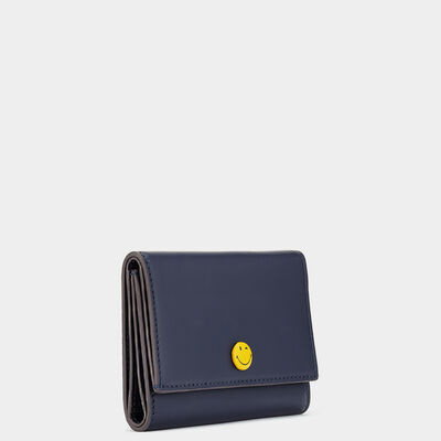 Smiley Popper Tri-Fold Wallet  by Anya Hindmarch