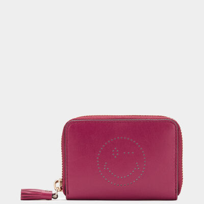Wink Small Zip-Around Wallet by Anya Hindmarch