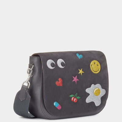 Glitter Stickers Ebury Satchel by Anya Hindmarch