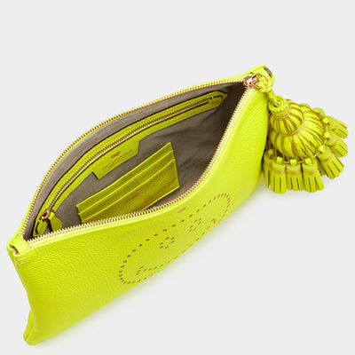 Smiley Georgiana clutch by Anya Hindmarch