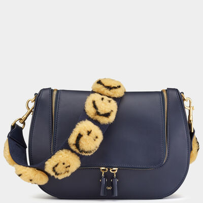 Smiley All Over Pompom Shoulder Strap by Anya Hindmarch