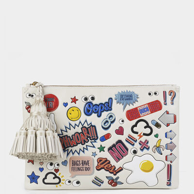 All-Over Stickers Smiley Georgiana in {variationvalue} from Anya Hindmarch