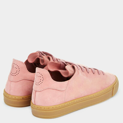 Perforated Smiley Sneakers by Anya Hindmarch