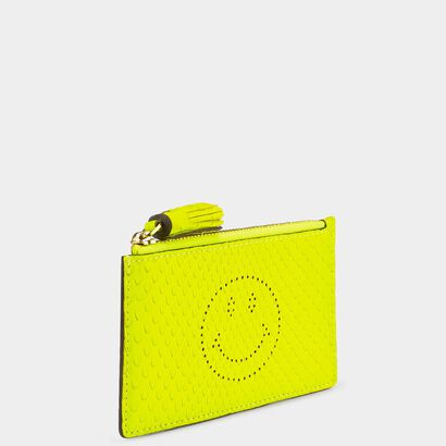 Python Smiley Zipped Card Case in {variationvalue} from Anya Hindmarch