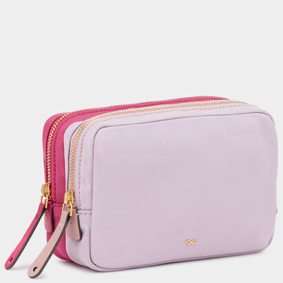 Stack Double Make-Up Pouch by Anya Hindmarch