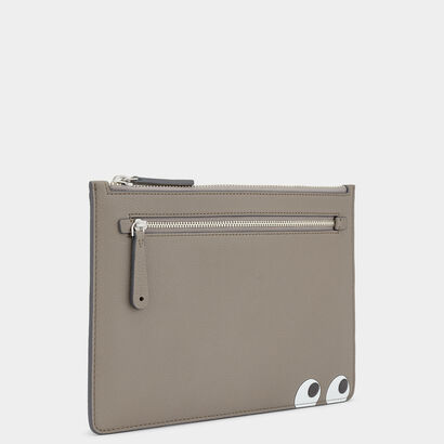 Eyes Double Zip Pouch by Anya Hindmarch