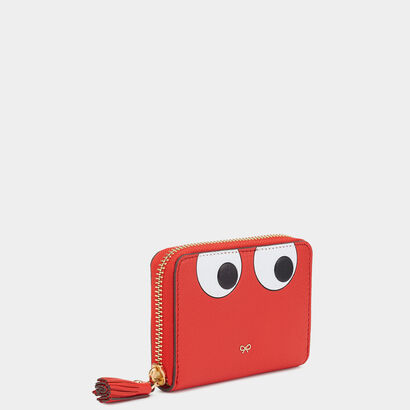 Eyes Small Zip-Around Wallet