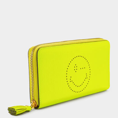 Wink Large Zip-Around Wallet