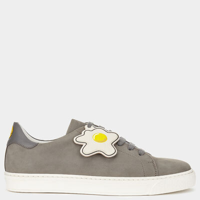 Smiley Sneakers with Egg Tag by Anya Hindmarch