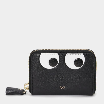 Eyes Small Zip Round Wallet