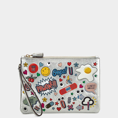 All Over Stickers Zip-Top Pouch