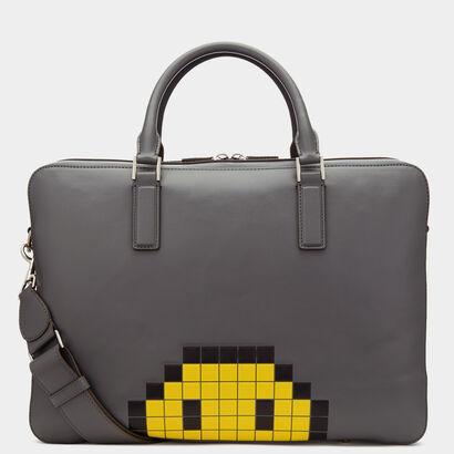 Pixel Smiley Walton Briefcase