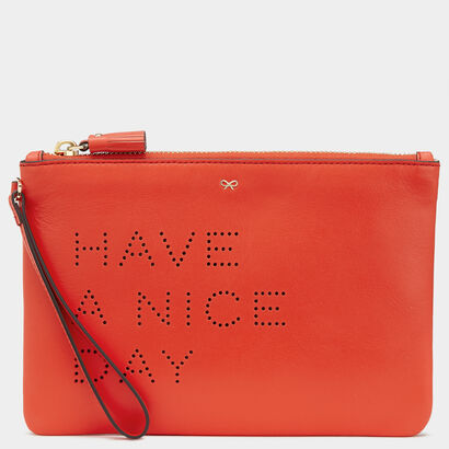Have a Nice Day Zip Top Pouch