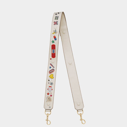 All Over Stickers Shoulder Strap in {variationvalue} from Anya Hindmarch