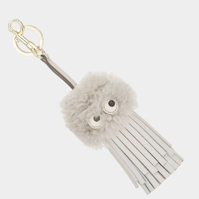 Shearling Eyes Tassel by Anya Hindmarch