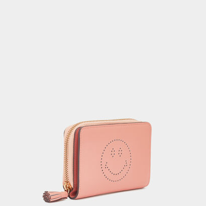 Smiley Small Zip-Around Wallet