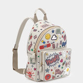 All Over Stickers Mini Backpack