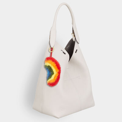 Rainbow Mink Tassel by Anya Hindmarch