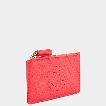 Smiley Zipped Card Case