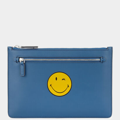Smiley Double-Zip Pouch